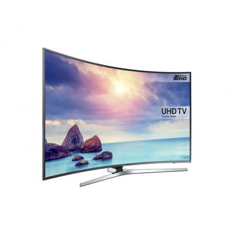 Samsung Curved TV 4K UHD UE55KU6650 Zilver