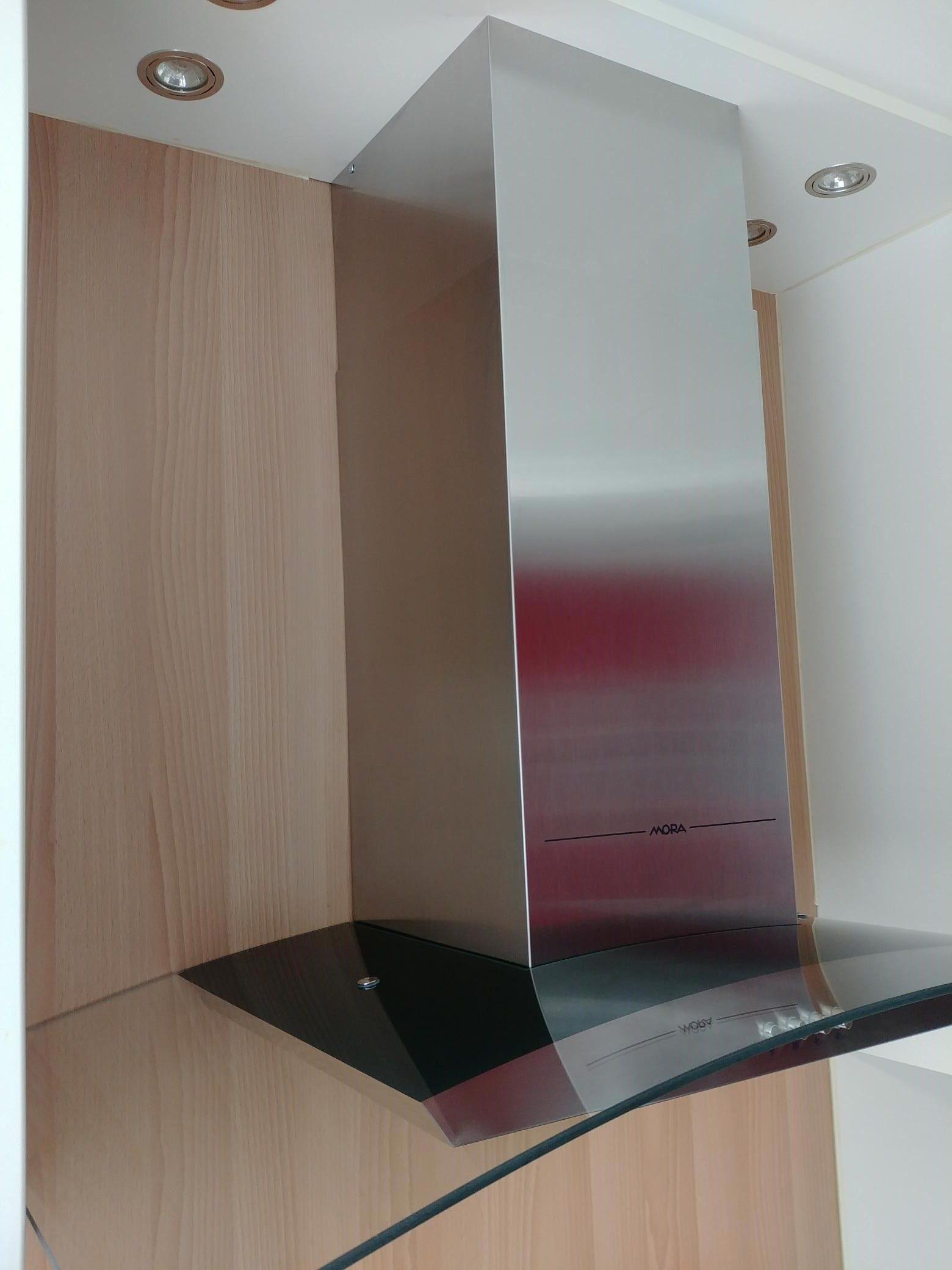 afzuigkap 90cm met glazen luifel led verlichting mora type ok937g outletkopen